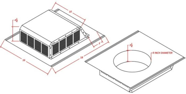 Louvered Roof Vent with Slant Back-1377